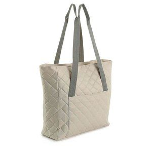 DSW Exclusive Quilted Tote. New with tag. Grey